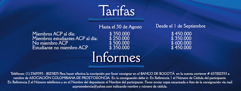 58 Congreso Internacional - tarifas