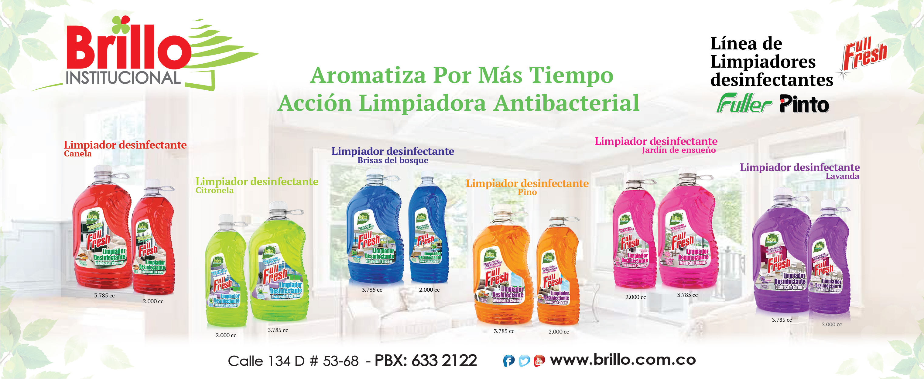 Limpiadores desinfectantes FULL FRESH