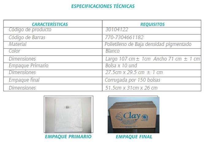 FICHA TECNICA DELANTAL PLASTICO