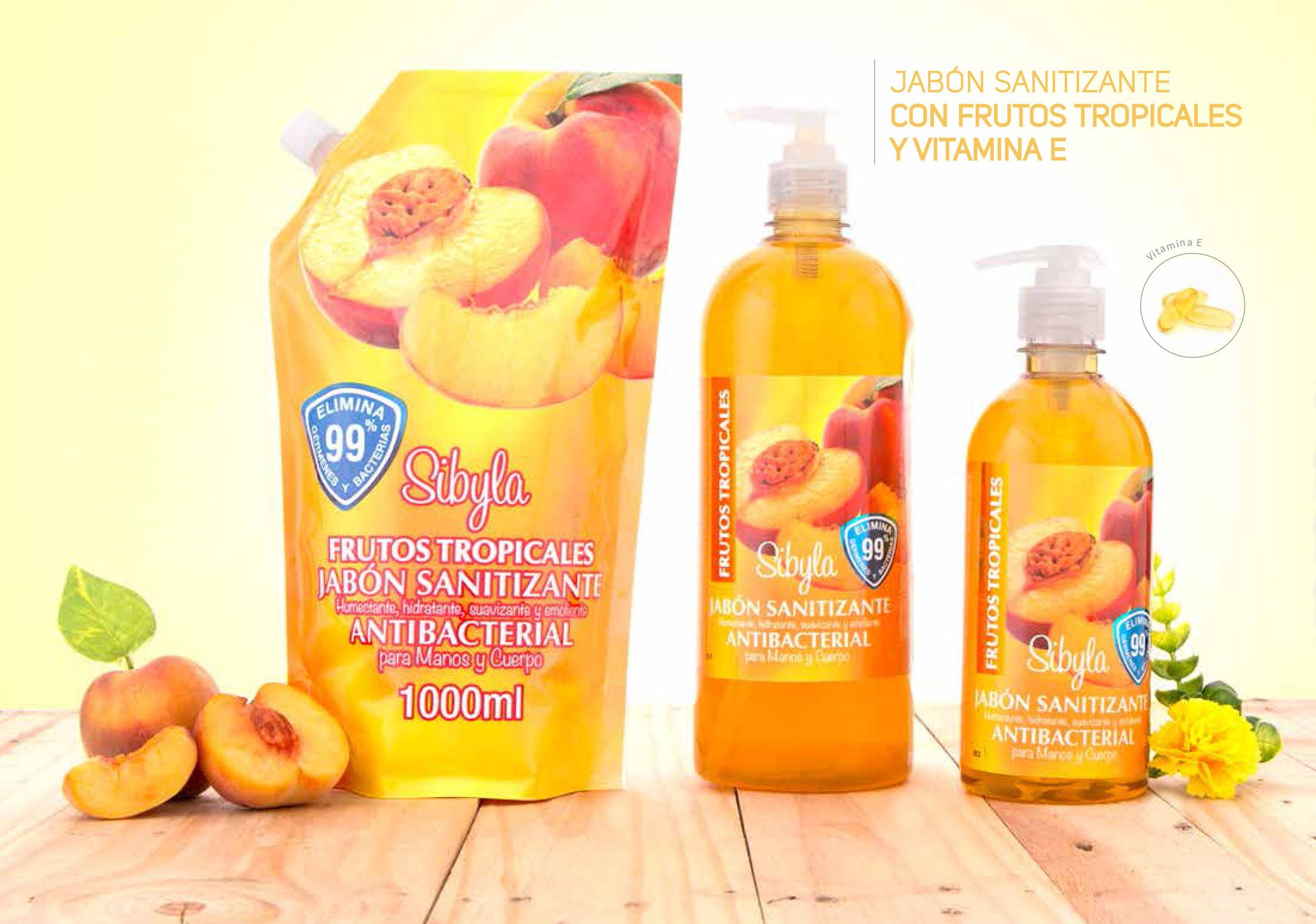 jabón Sanitizante con Frutos Azules y Vitamina E