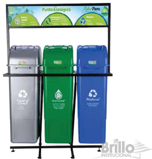 punto ecológico de 3 puestos- 55 litros- FULLER