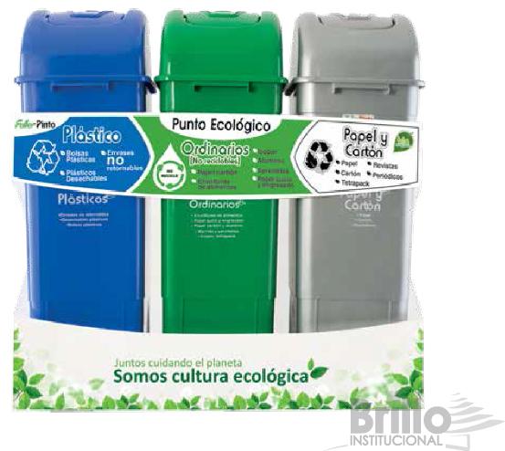 punto ecológico Ecoplas de 3 puestos- 55 litros- FULLER