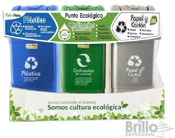 punto ecológico Ecoplas de 3 puestos- 35 litros- FULLER