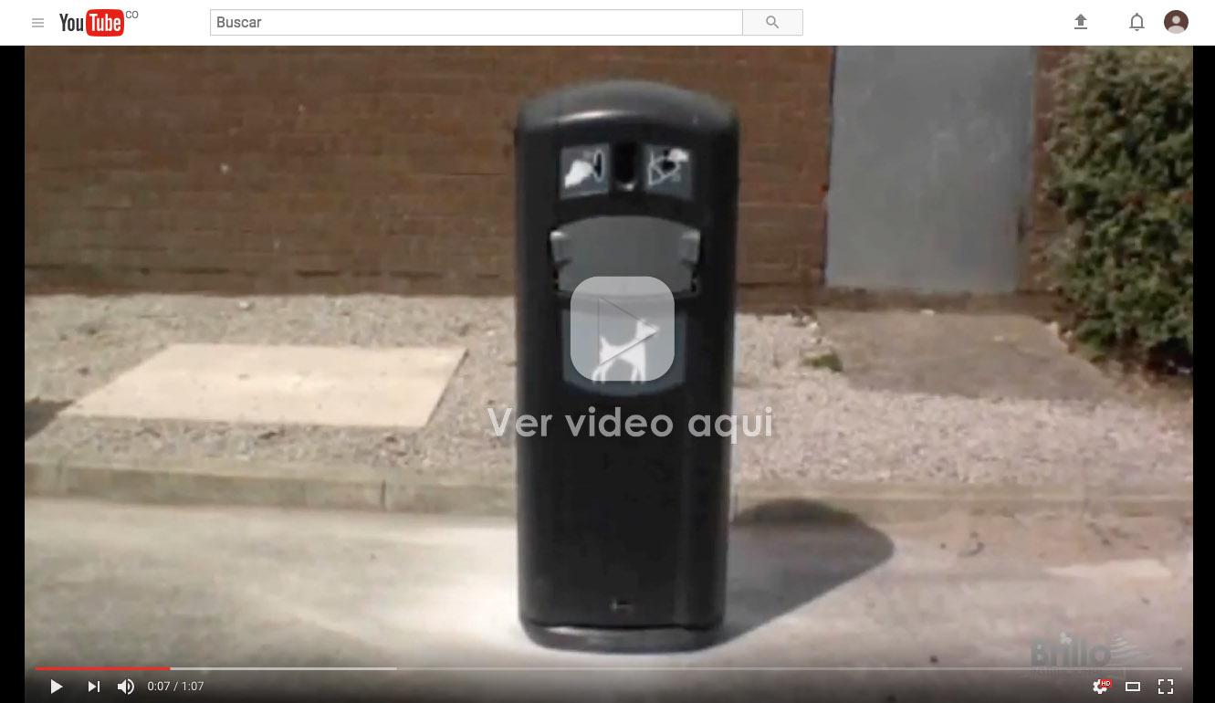 VIDEO PAPELERA PARA RESIDUOS DE PERROS