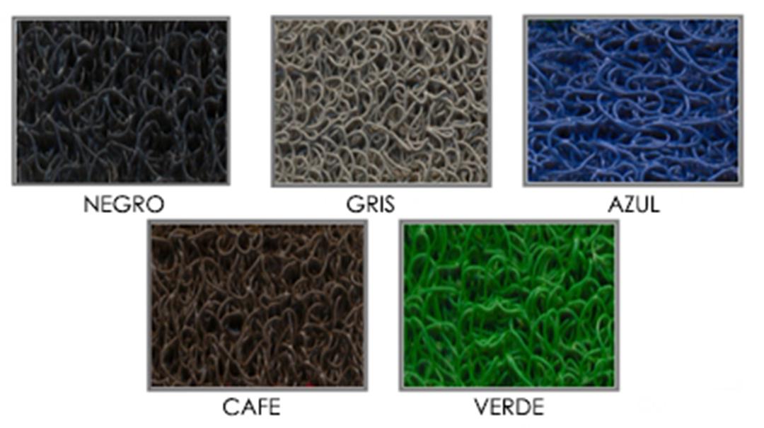colores de tapetes 3M, 3000 y 1000 pisadas