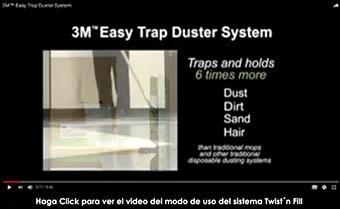 funcionamiento del Easy Trap Duster System- sistema Atrapa Polvo de Uso Fácil 3M